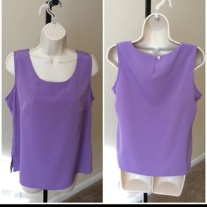 Notations 100% poly sz M purple layering s…